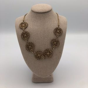 Francesca's Gold Circle Statement Necklace